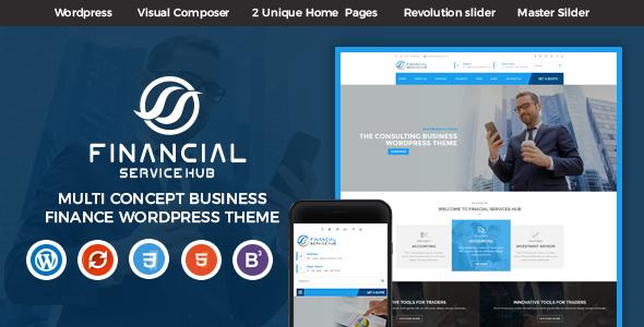 Wordpress Immobilien Template Financial Business Hub Corporate WordPress Theme - RTL
