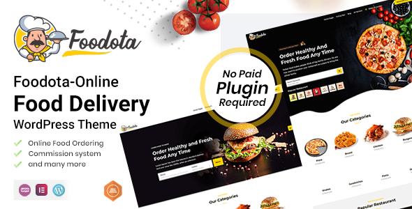 Wordpress Directory Template Foodota - Online Food Delivery WordPress Theme
