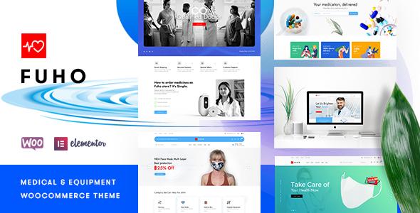 Wordpress Shop Template Fuho – Pharmacy Store WooCommerce Theme