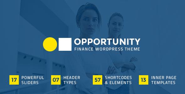 Wordpress Immobilien Template Opportunity - Finance Theme