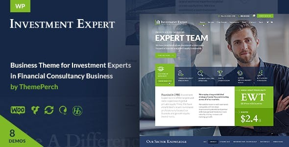 Wordpress Immobilien Template Investment Expert - Business Theme for Agencies in Financial Consultancy + RTL