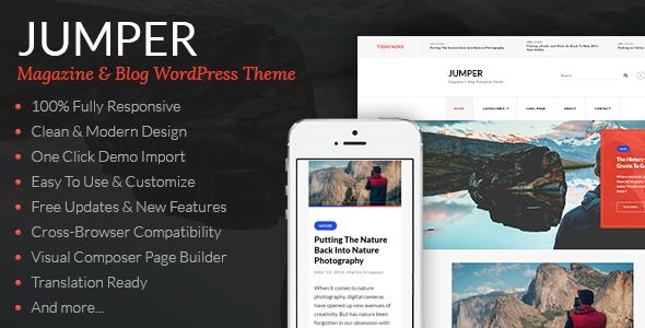 Wordpress Blog Template Jumper - Magazine & Blog WordPress Theme