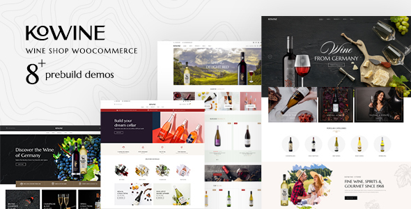 Wordpress Shop Template Kowine – Wine Store WordPress Theme