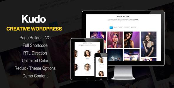 Wordpress Kreativ Template Kudo - Portfolio, Marketing Landing Page WordPress Theme