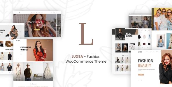 Wordpress Shop Template LUXSA - Fashion WooCommerce Theme