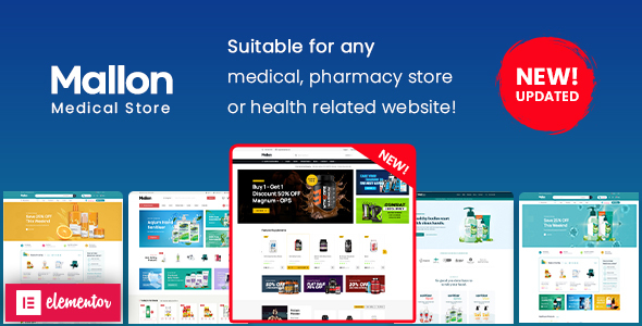 Wordpress Shop Template Mallon - Medical Store Elementor WooCommerce WordPress Theme