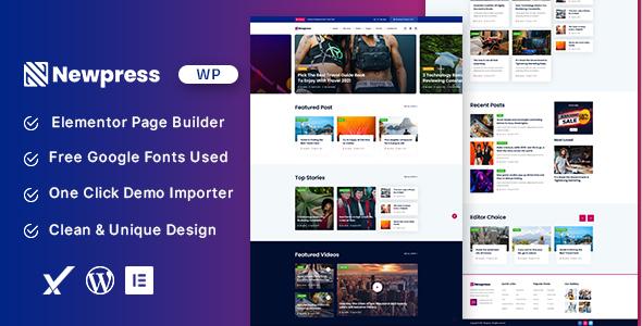 Wordpress Blog Template Newpress - Blog Magazine WordPress Theme