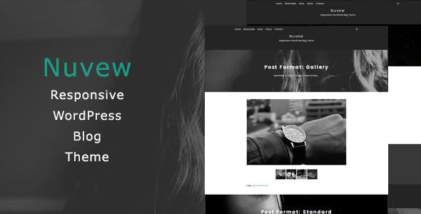Wordpress Blog Template Nuvew - Responsive WordPress Blog Theme