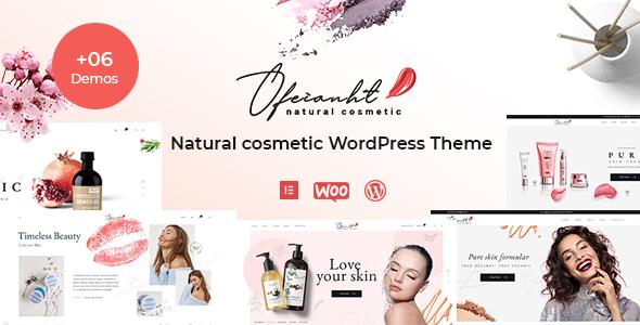 Wordpress Shop Template Ofeianht - Natural Cosmetics WordPress Theme