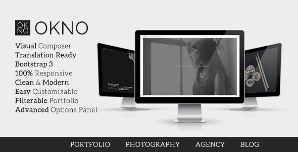 Wordpress Kreativ Template Okno - Agency Portfolio Theme