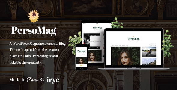 Wordpress Blog Template PersoMag - Personal Blog WordPress Theme