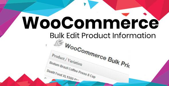 Wordpress E-Commerce Plugin Bulk Edit product Information Plugin