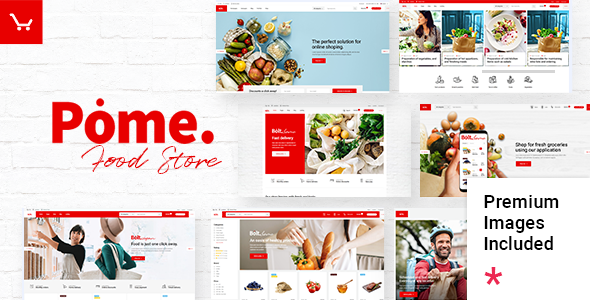 Wordpress Shop Template Pome - Food Store WordPress Theme