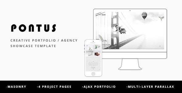 Wordpress Kreativ Template Pontus - Creative Portfolio / Agency WordPress Theme