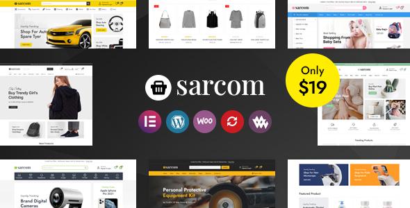 Wordpress Shop Template Sarcom - Fashion WooCommerce Theme