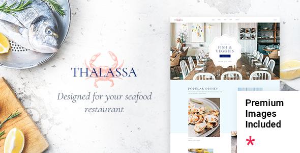 Wordpress Entertainment Template Thalassa - Seafood Restaurant Theme
