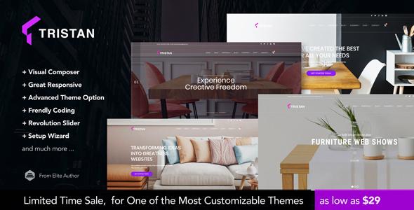 Wordpress Kreativ Template Tristan - Creative Furniture & Interior WordPress Theme