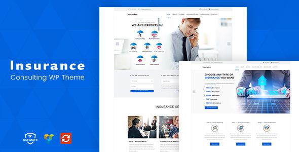 Wordpress Immobilien Template Insurance WordPress