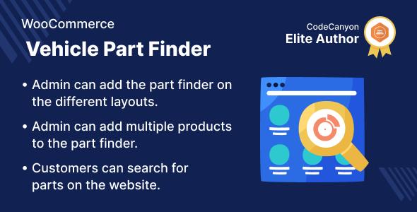Wordpress E-Commerce Plugin WooCommerce Vehicle Part Finder
