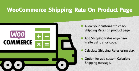 Wordpress E-Commerce Plugin WooCommerce Shipping Rate On Product Page