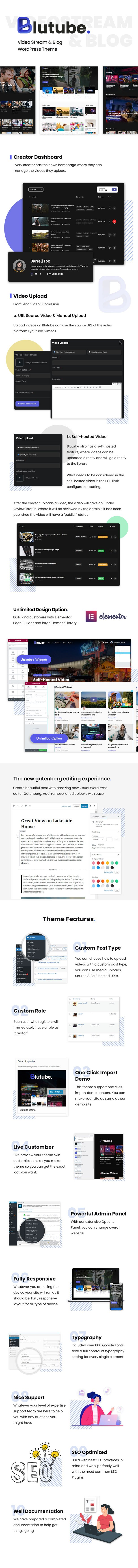 Blutube    Videostream & Blog WordPress Theme - 4