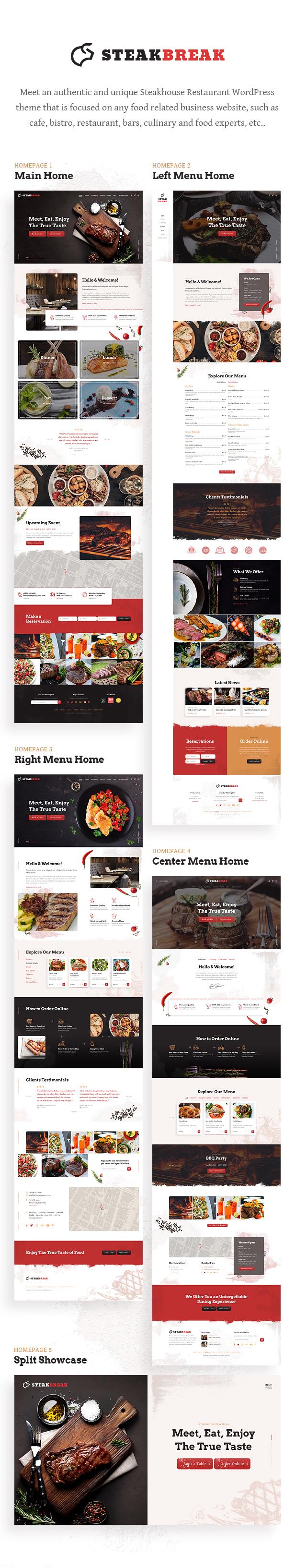 SteakBreak - Fleischrestaurant WordPress Theme - 1
