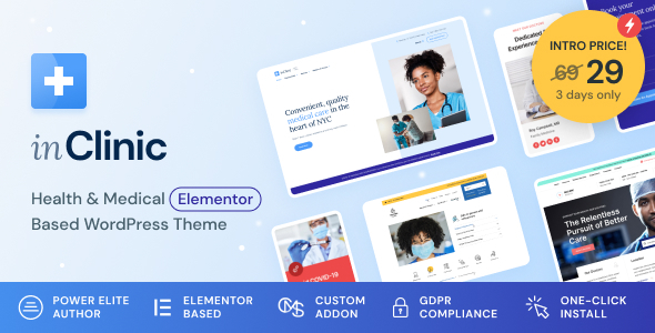 Wordpress Immobilien Template InClinic - Healthcare & Medical WordPress Theme
