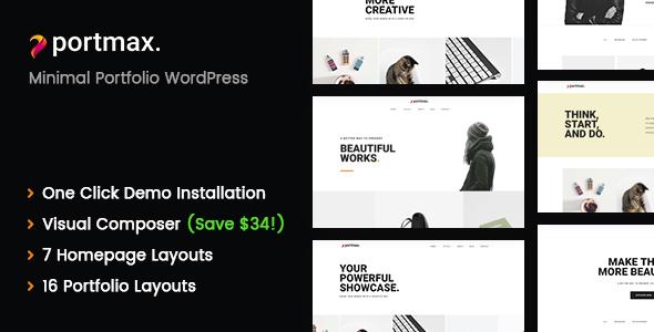 Wordpress Kreativ Template PortMax - Minimal Portfolio WordPress Theme