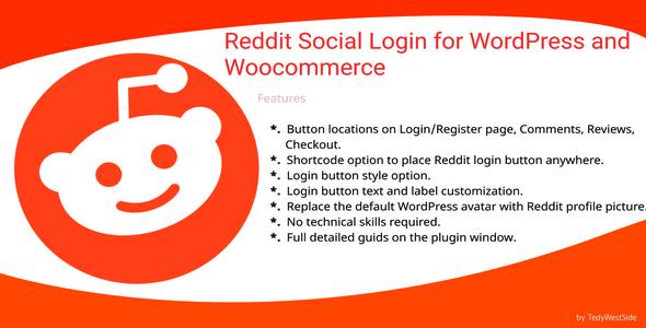 Wordpress E-Commerce Plugin Reddit Social Login  Plugin for WordPress and WooCommerce