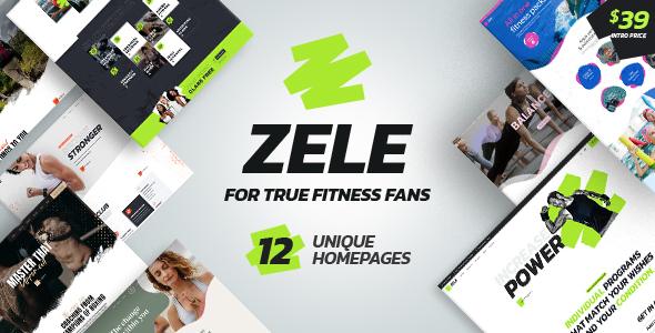 Wordpress Immobilien Template Zele - Fitness Gym & Sports WordPress Theme