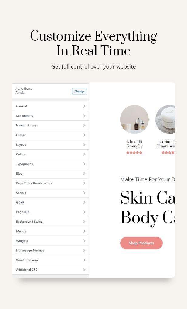 Amela |  Beauty Care WooCommerce WordPress Theme