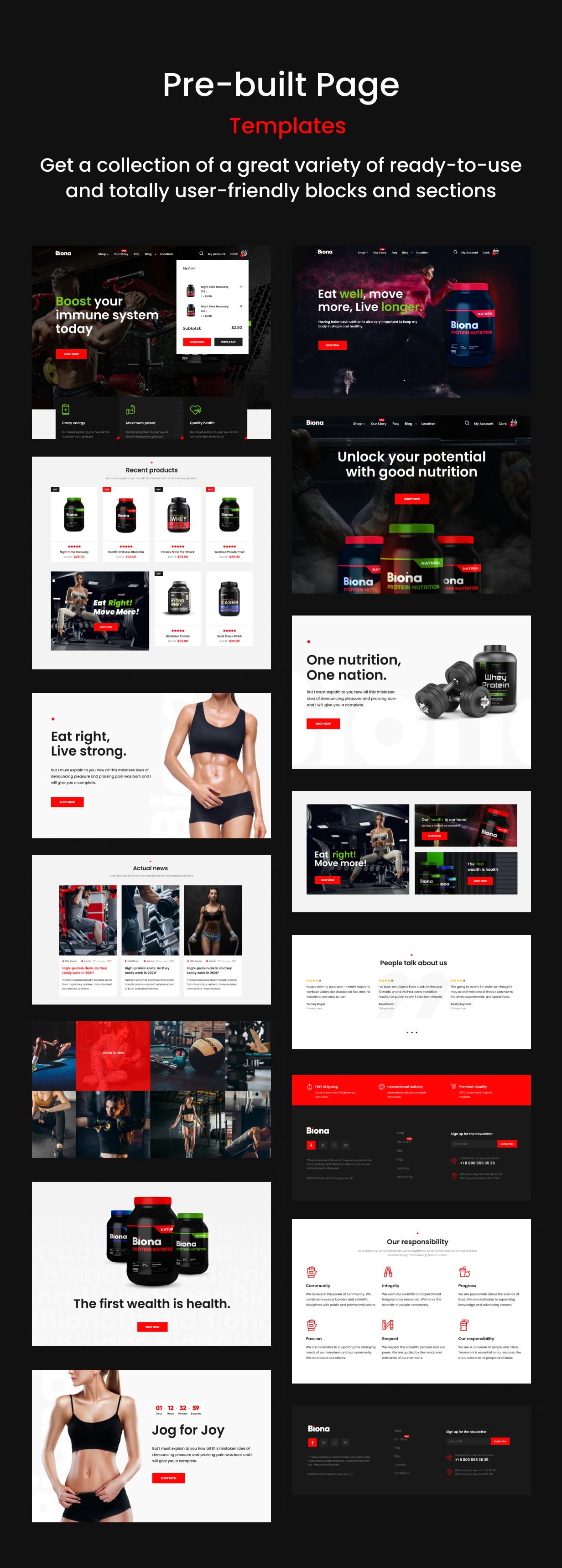 WooCommerce-Theme für Sporternährung