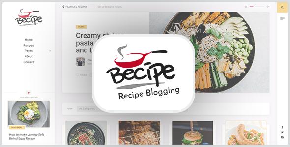 Wordpress Blog Template Becipe - Recipe Blogging WordPress Theme