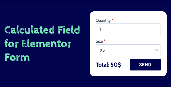 Wordpress Formular Plugin Calculated Field for Elementor Form