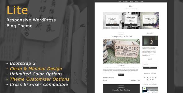 Wordpress Blog Template Lite - Responsive WordPress Blog Theme