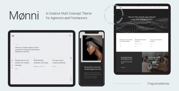 Wordpress Kreativ Template Monni - A Creative Multi-Concept Theme for Agencies and Freelancers