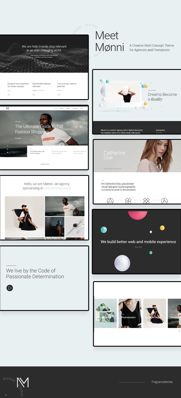 Monni - Ein kreatives Multi-Konzept-Theme für Agenturen und Freiberufler - 1