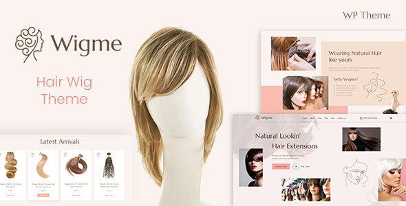 Wordpress Shop Template Wigme - Hair Extension, Beauty Cosmetics Shop