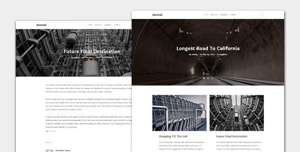 Wordpress Blog Template Journal - Blog and Magazine Theme