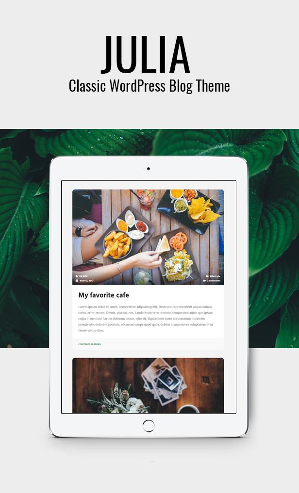 Julia - Klassisches WordPress-Blog-Theme - 1