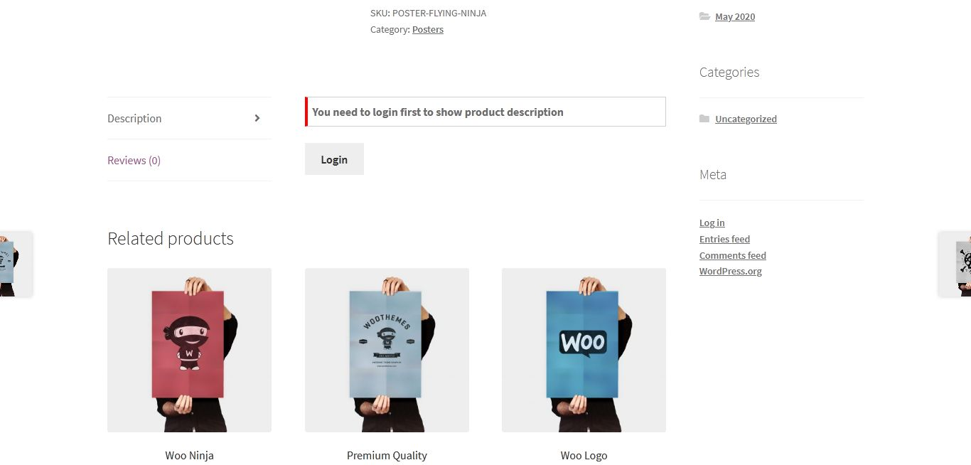 WooCommerce-Produktdetailseite