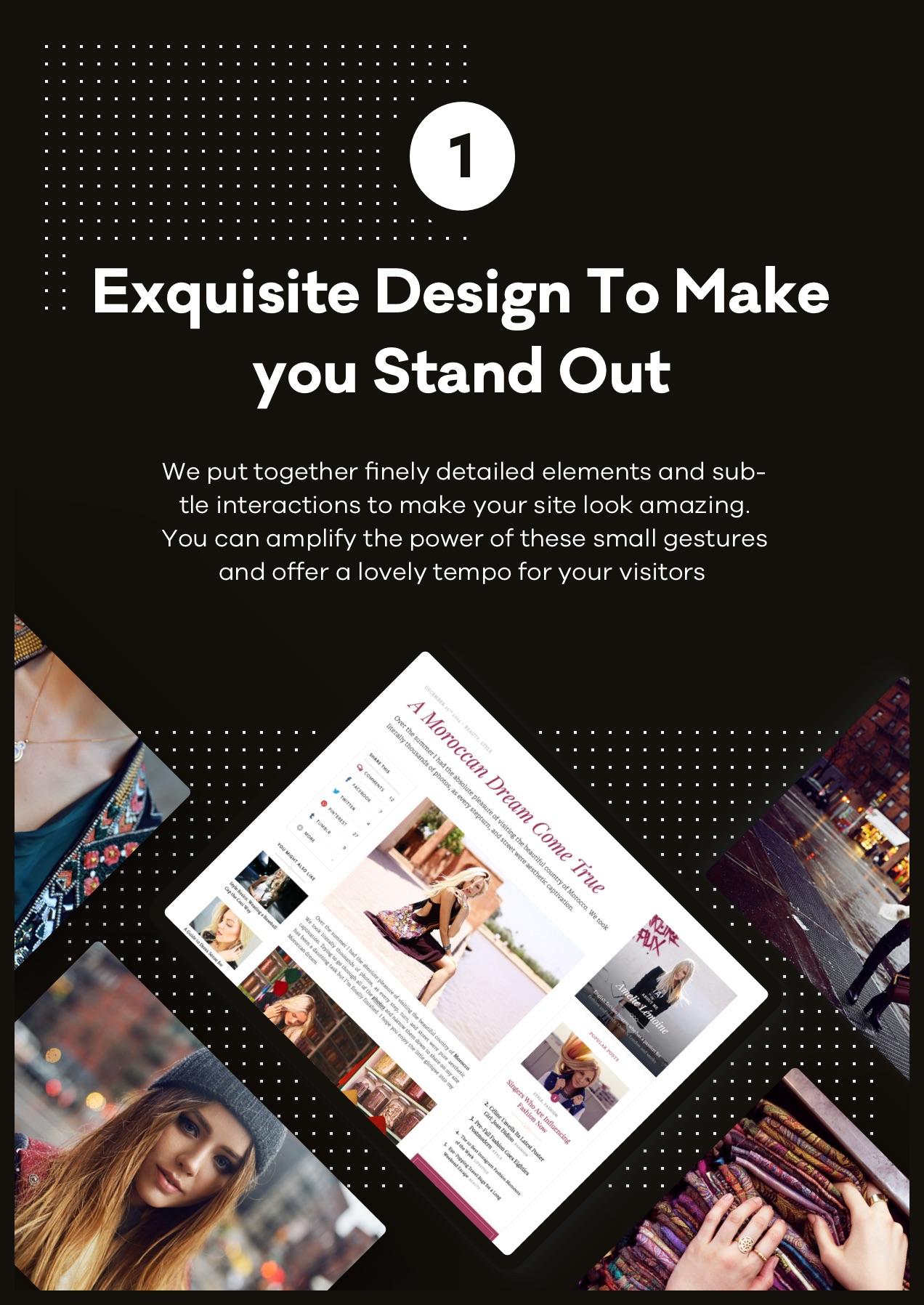Exquisites Design, damit Sie sich von der Masse abheben