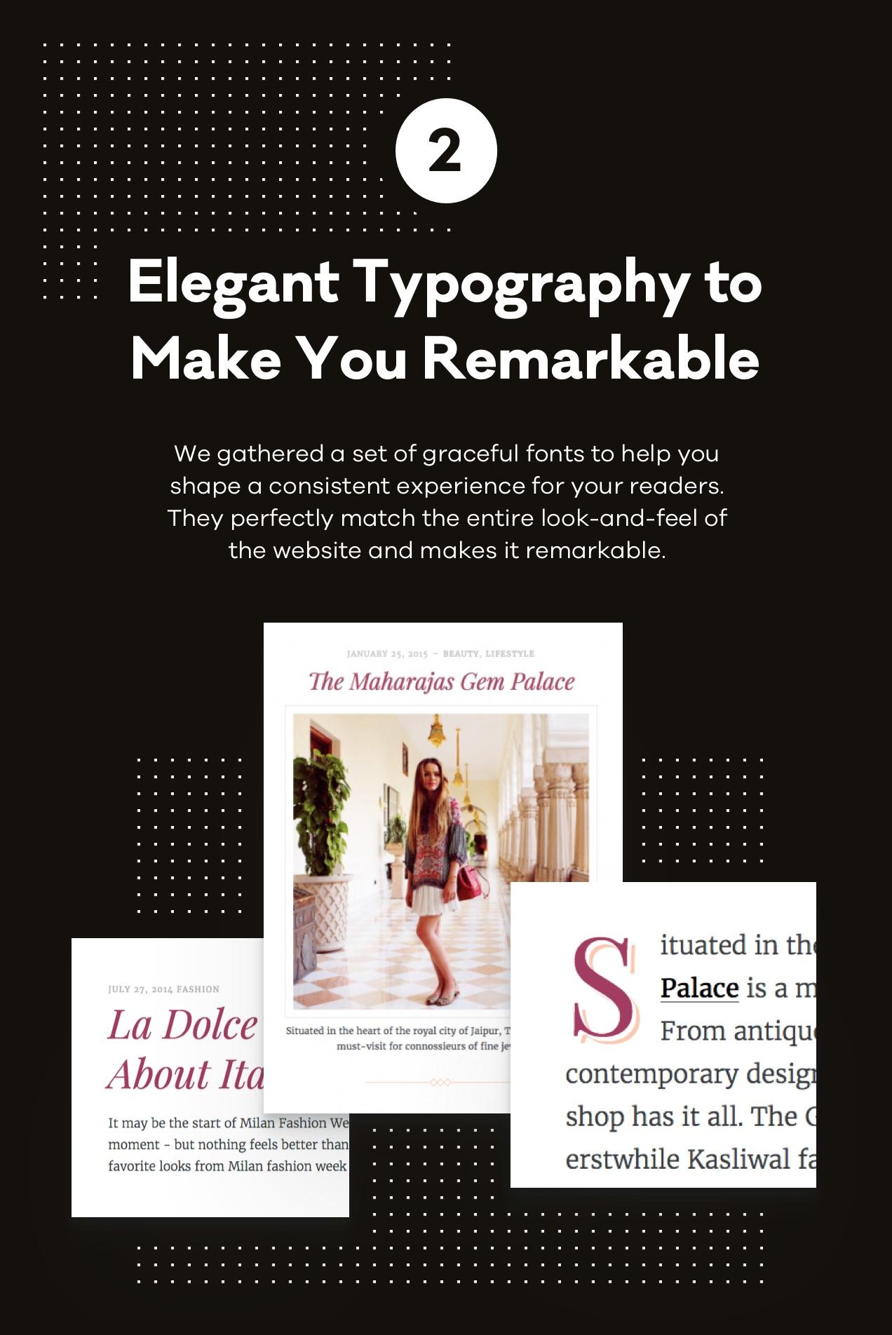 Elegante Typografie