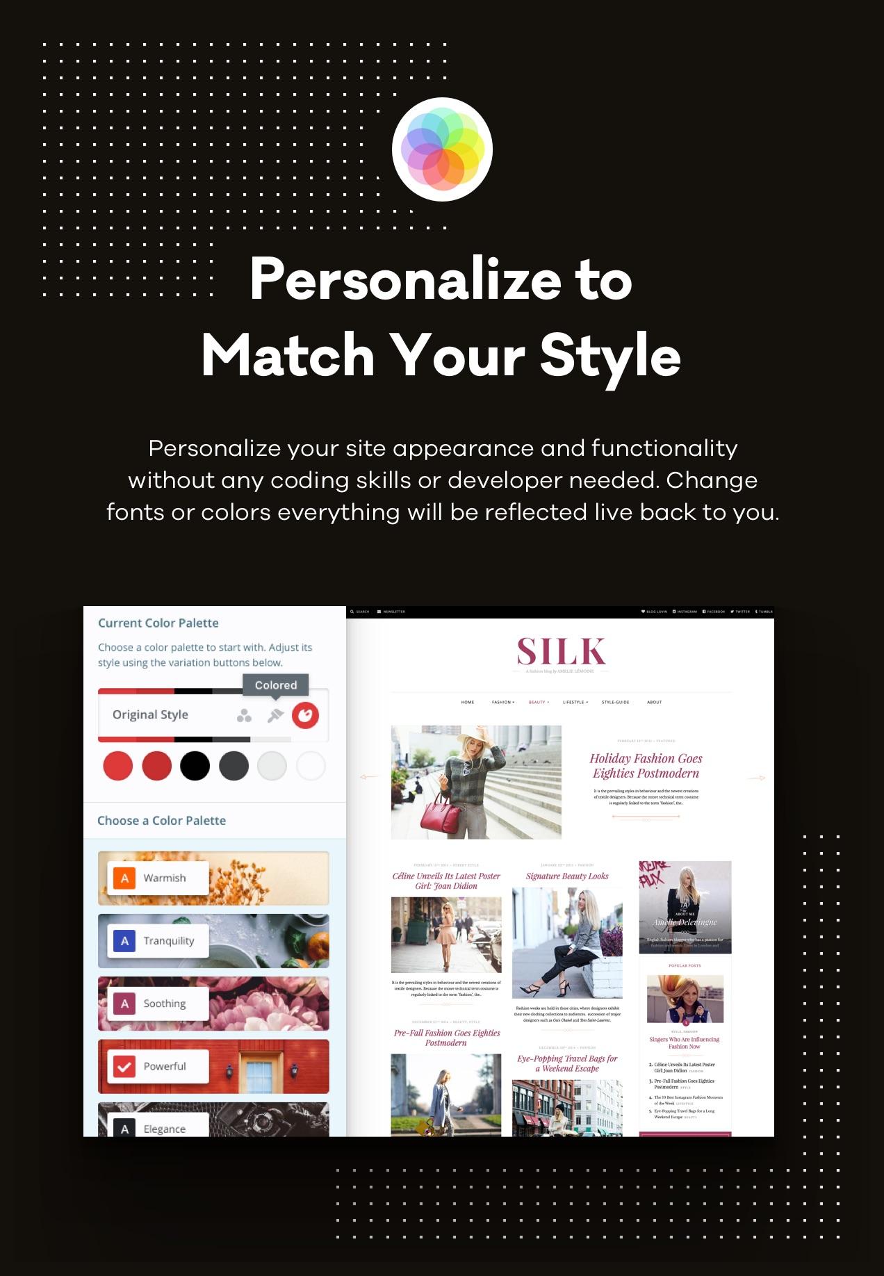 Personalisieren, um Ihrem Stil zu entsprechen